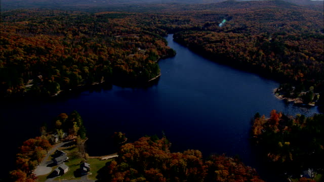Franklin Pierce Lake  - Aerial View - New Hampshire,  Hillsborough County,  United States video