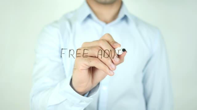 Free Advice, Writing On Transparent Screen video