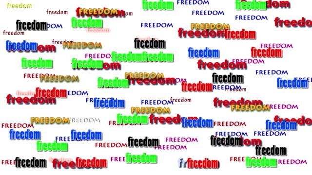 freedom alphabet on isolated video