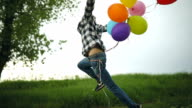 Freedom and joy with the balloons video