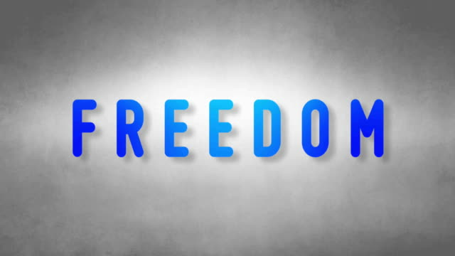 Freedom headband. Text from sand. With black background video