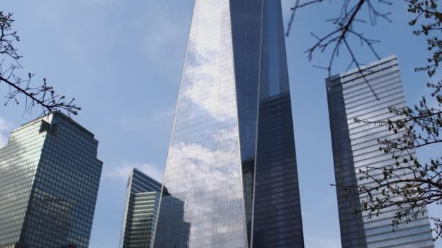 Freedom Tower in Manhattan camera tilt. video