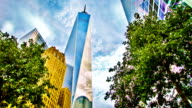 Freedom Tower in sky video