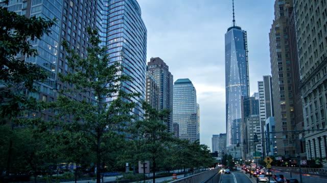 Freedom tower, street, Manhattan,  New York, USA video