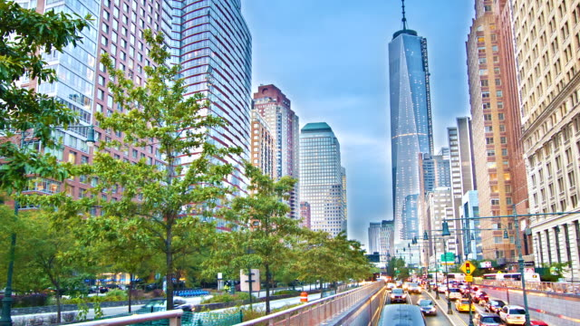 Freedom Tower under construction New York - video