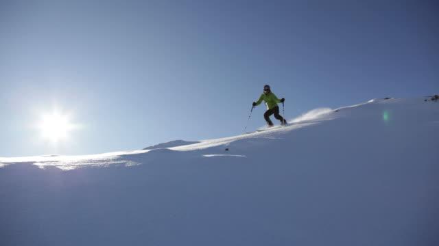 Freeride skier in snow powder. HD1080p video