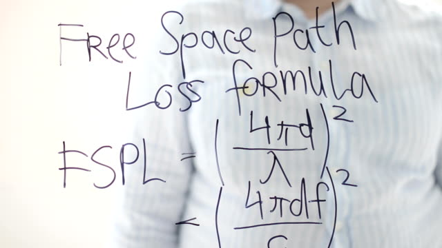 Free-space path loss formula. Radio-Electronics. video