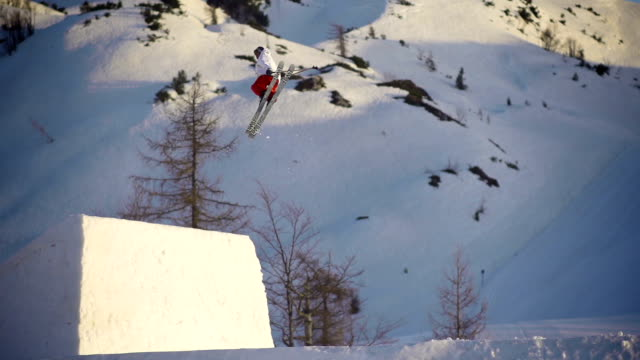 Freestyle skier performing a trick video
