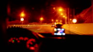 Freeway driving night. video