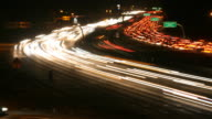 freeway rush hour night time lapse DV HD SD video video