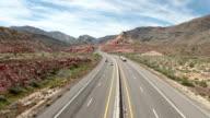 Freeway traffic desert video