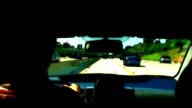 Freeway Traffic Drive with Dark Cartoon Special Effect video