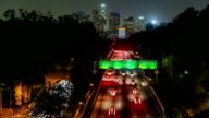 Freeway Traffic Time Lapse LA video