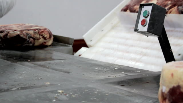 freeze meat for burger production video
