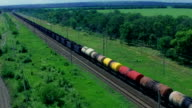 Freight train in the country side video
