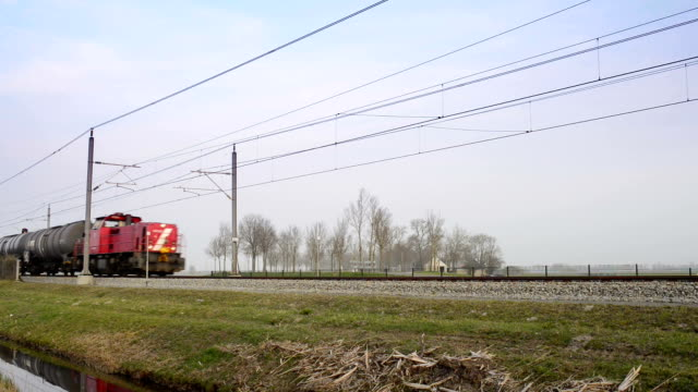 Freight train passing with sound video