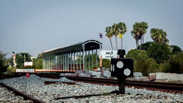 Freight train. Time Lapse video