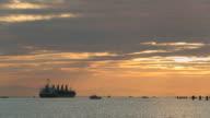Freighter Moving Through Fishing Fleet, Fraser River video