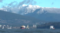 Freighters and Sailboats in English Bay video