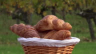 French croissants in a rotating basket video