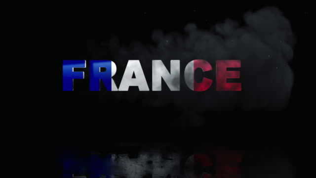 French Flag On Title is Revealing with Fire video