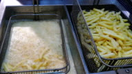 French fries in the fryer video