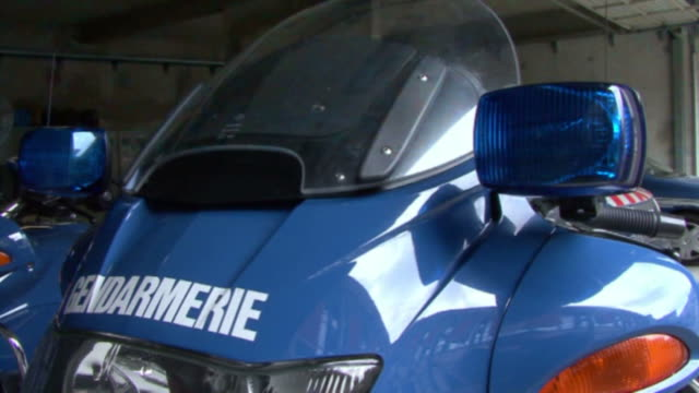 French police motorcycle video