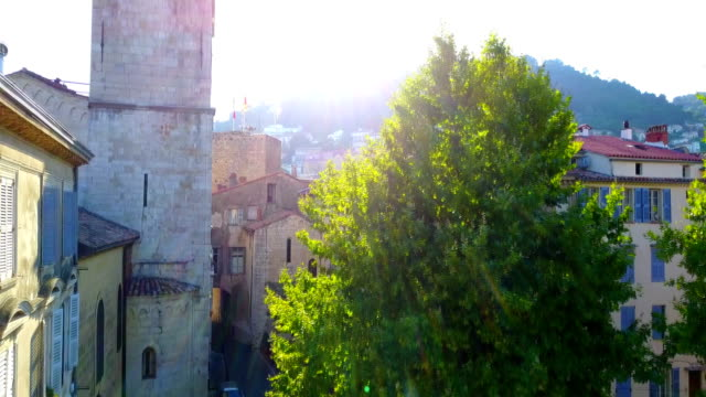 French Provence town GRASSE CATHEDRAL, View of Old French Town video