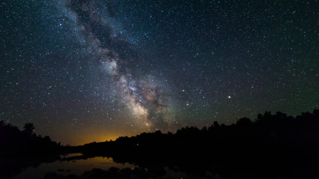 French River Provincial Park, Canada, Timelapse  - The Milky Way video