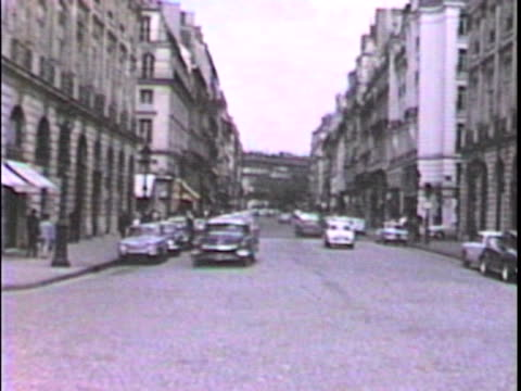 French street scene-From 1950's film video