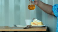 French Toast with ice cream and honey syrup video