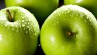 Fresh Apple close up video