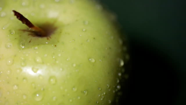 Fresh Apple close up video