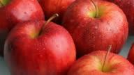Fresh apples video