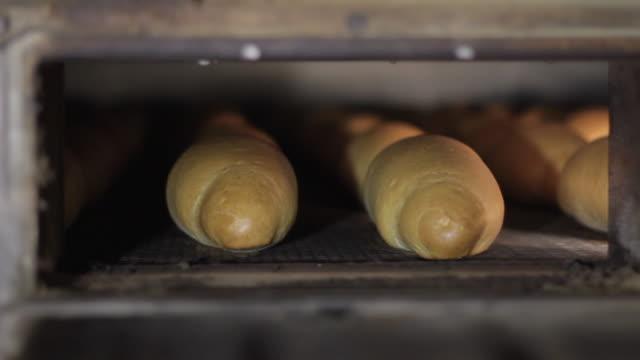 Fresh bread in a bakery video