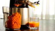 Fresh carrot juice. video