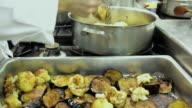 Fresh cooked eggplant and cauliflower video