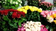 DOLLY: Fresh Cut Flowers In Florist Shop video