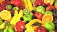 Fresh fruit background video