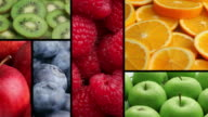 Fresh fruit backgrounds, video montage video
