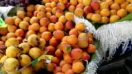 Fresh fruits in green grocer video