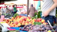 Fresh fruits on Marketplace video