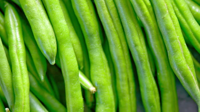 Fresh Green Bean close up video