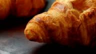 Fresh homemade croissants for breakfast video
