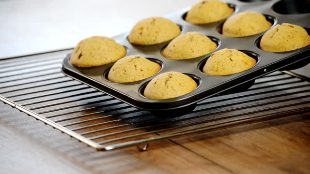 Fresh homemade delicious muffins video