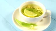 Fresh linden tea video