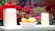 Fresh milk and lucuma fruit video