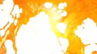 Fresh Orange Juice flow. Super Slow motion. video