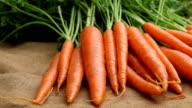 Fresh organic carrots video
