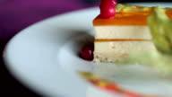 Fresh passion fruit cheesecake video
